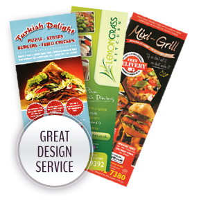 Great Design Service - A3 Takeaway Menus