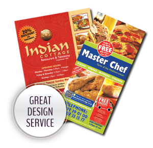 Great Design Service - A4 Takeaway menus
