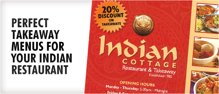 Perfect Takeaway Menus for Your Indian Restaurant