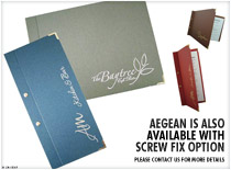 Aegean is also available with screw fix options