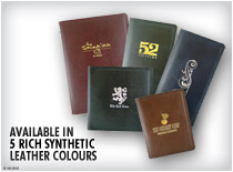 Available in 5 rich synthetic leather colours