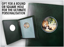 Opt for a round or square hole for the ultimate personalisation