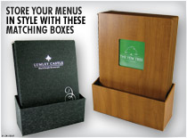 Box Set - Store your menus in style with these matching boxes