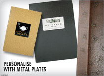 Metal Plates - Personalise peacock with metal plates