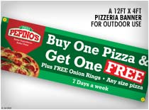 Pizzeria outdoor banner