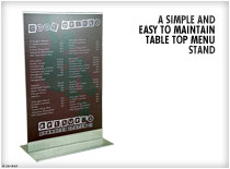 Personalize Your Menu with a gold, silver or white metal plate