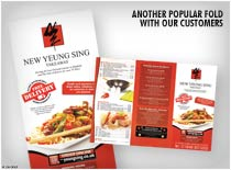 z fold menus - Another Popular fold with our customers